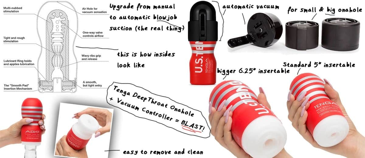 Blowjob toy: Tenga DeepThroat Onacup