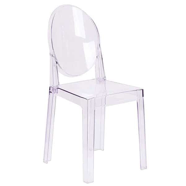 transparent chair used for couples