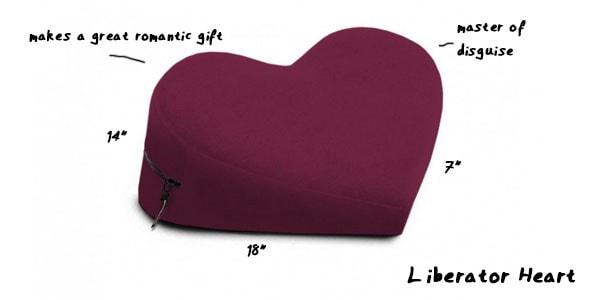Liberator Heart Wedge Sex Pillow