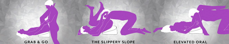 sex position using a sex pillow