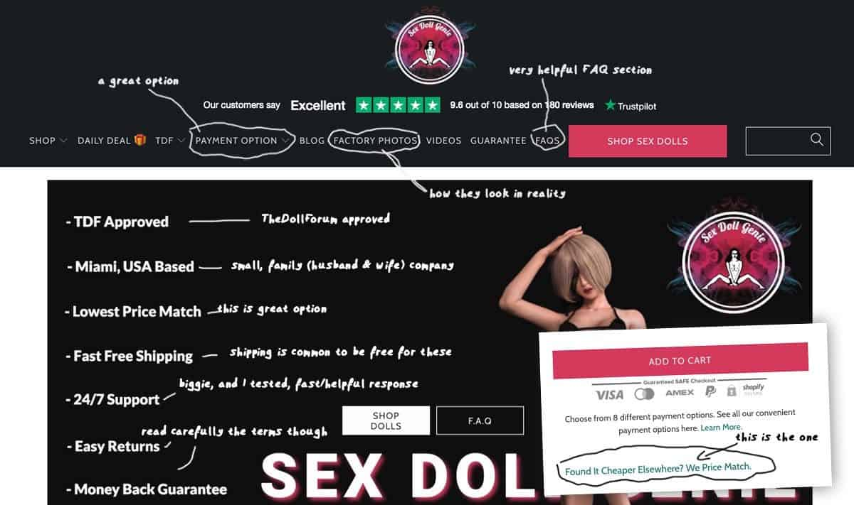 screenshot sex doll genie online store
