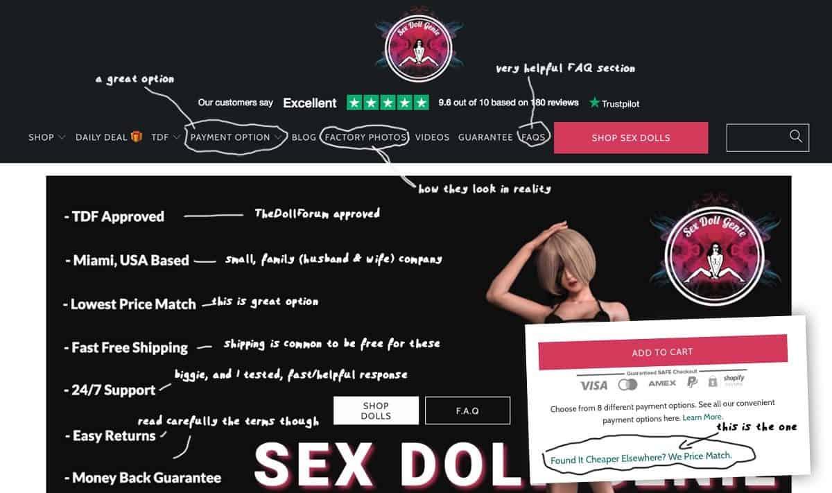 screenshot sex doll genie online store