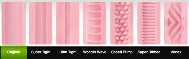 all the fleshlight sleeves side by side