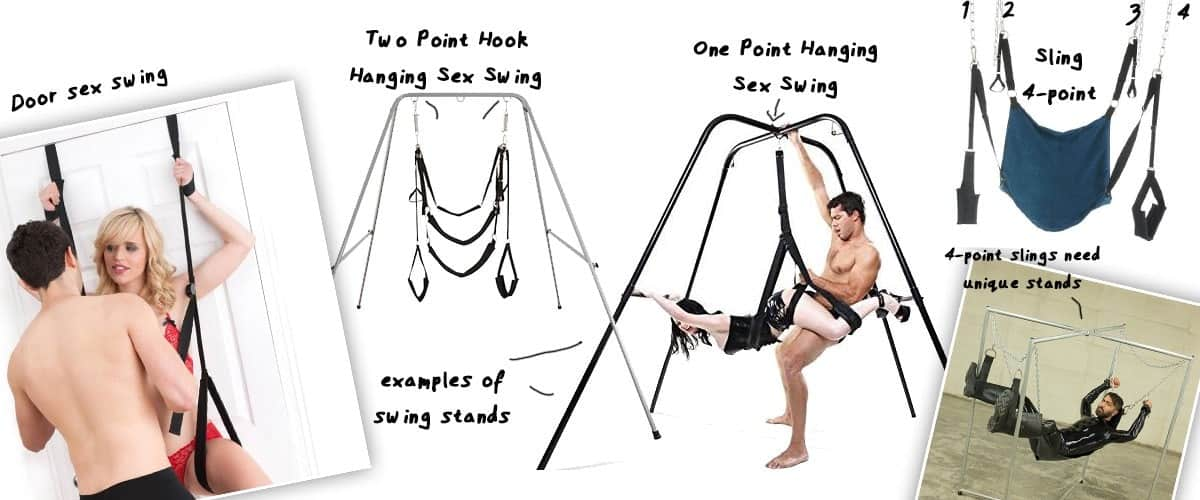 couple showing how sex swing work