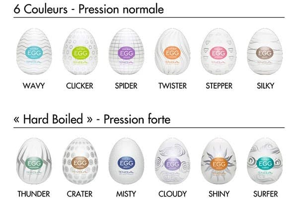 different tenga eggs explained