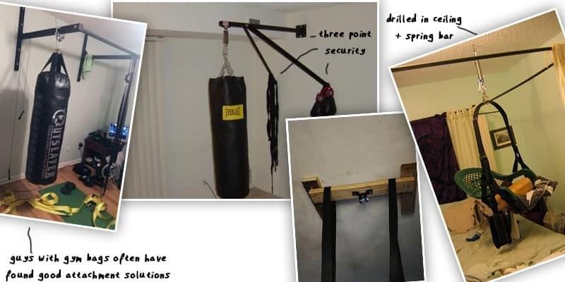 diy sex swing showing how to hang it