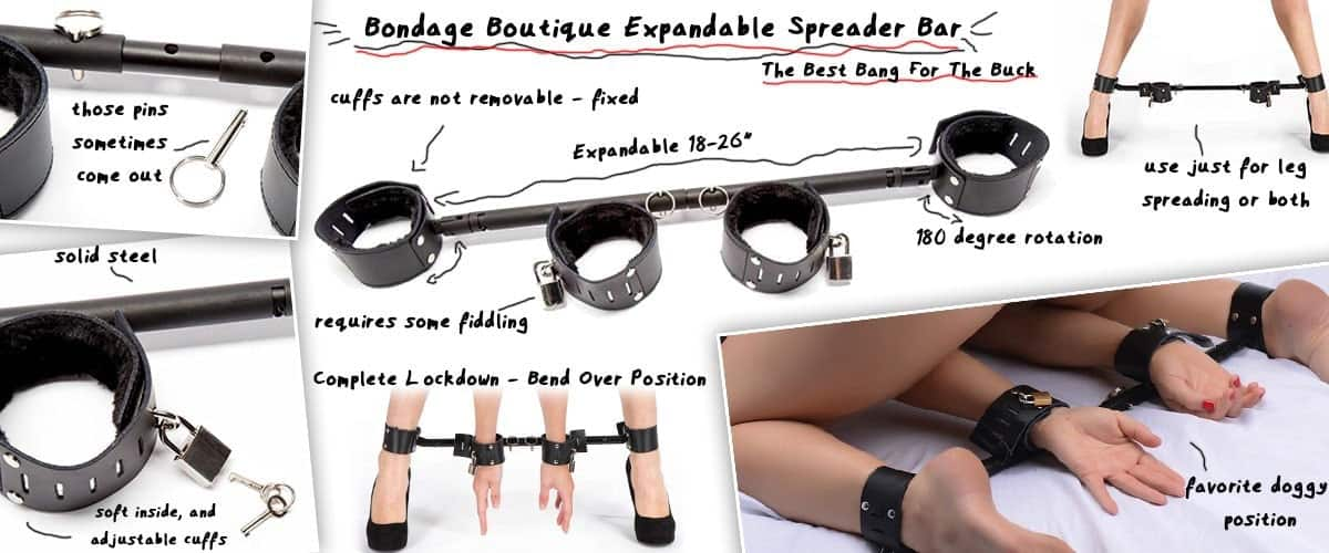 expandable adjustable leg spreader bar