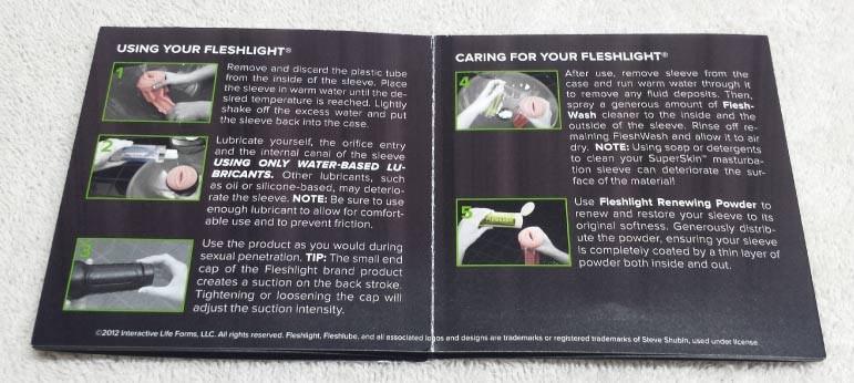 fleshlight instruction manual unboxing