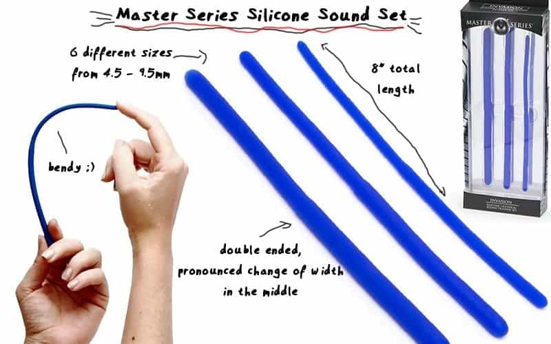master series silicone urethral sounds
