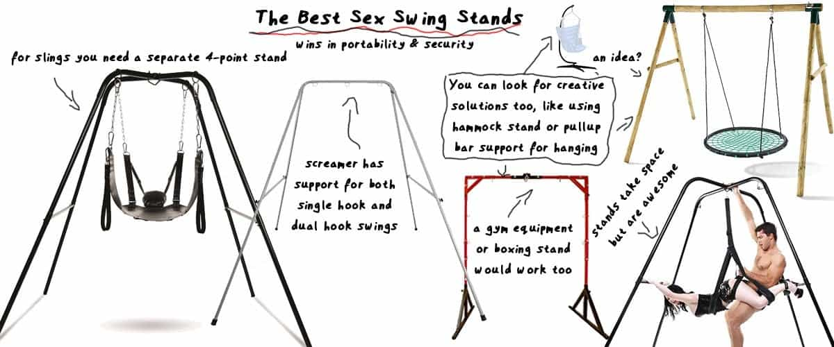 sex swing stands compared side by side