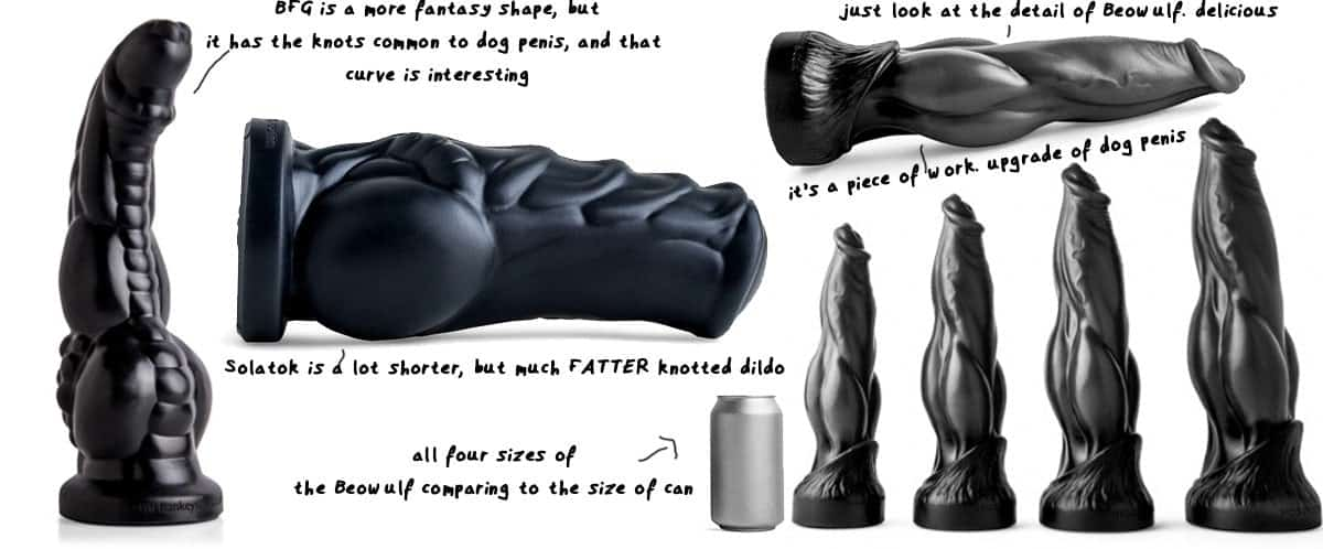 beowulf werewolf dildo and other canine fantasy dildos