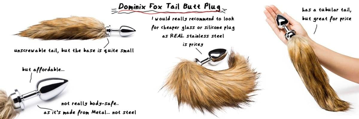 fox tail butt plug for cute furry pet play