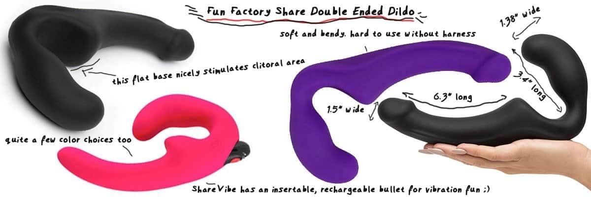 fun factory share dp dildo for pegging