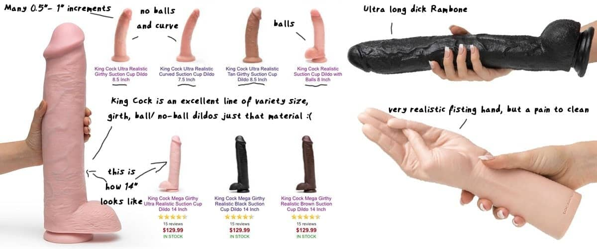 king cock and dick rambone large sex toys
