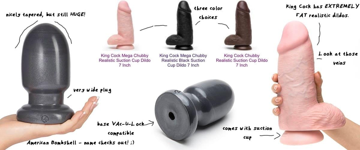 large thick dildos put side by side