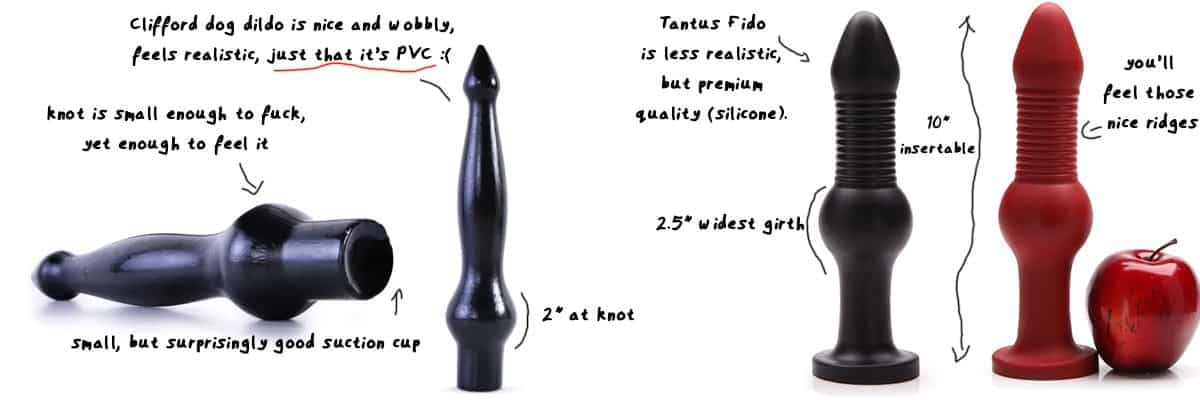 realistic knot dildos by tantus and clifford