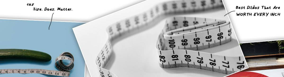 ruler to measure the size of sex toys
