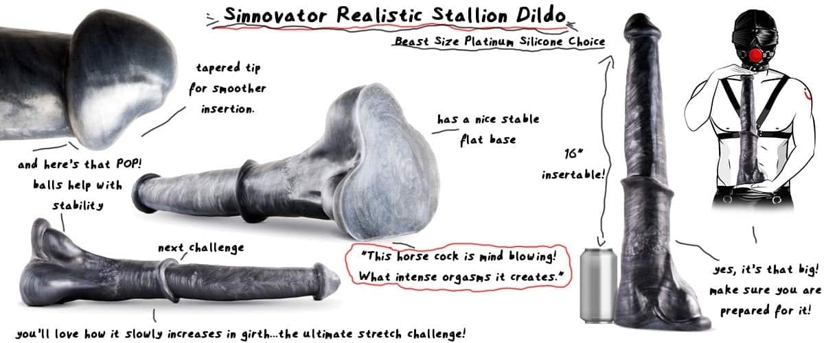 sinnovator ultra realistic huge canine dildo