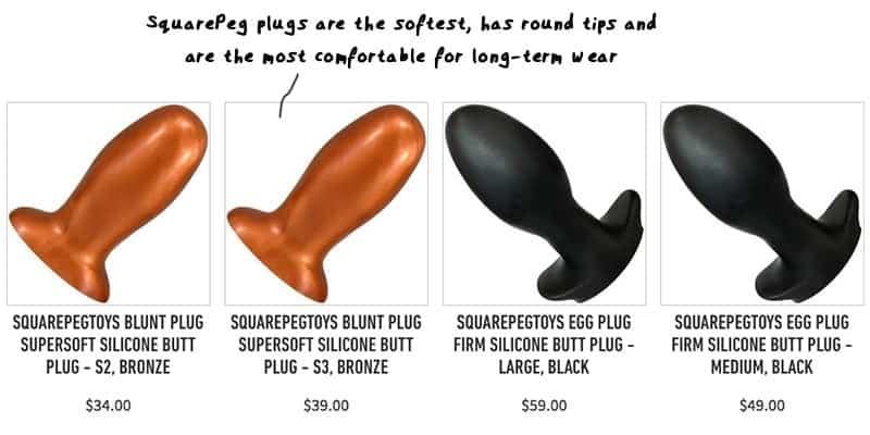 squrapeg egg butt plugs comfortable for long term wear