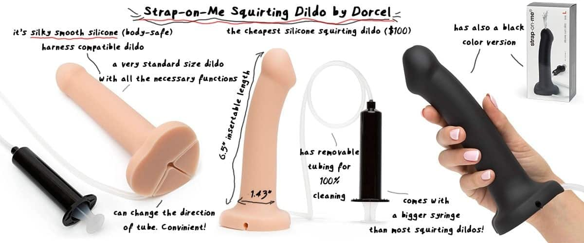 strap on me squirting dildo by dorcel
