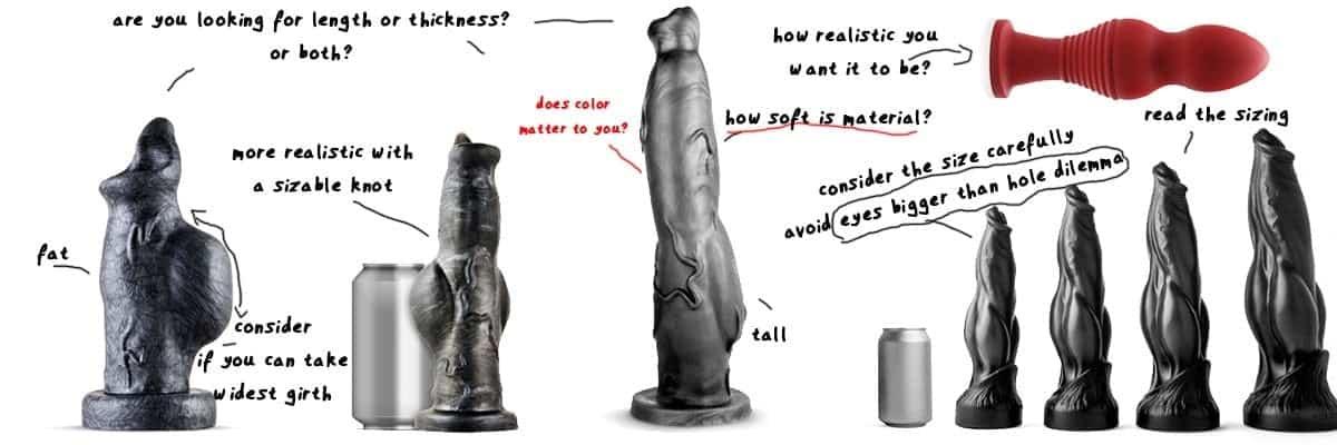 various furry sex toys and k9 dildos