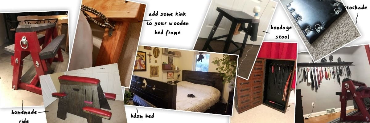 homemade bdsm bed and bondage horse