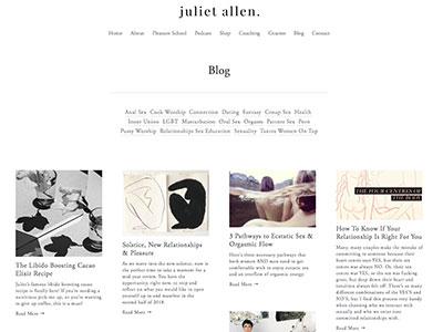 juliet allen sexologist blog