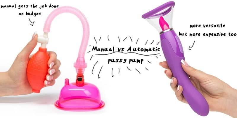 manual pump compared with vibrating automatic pussy pump