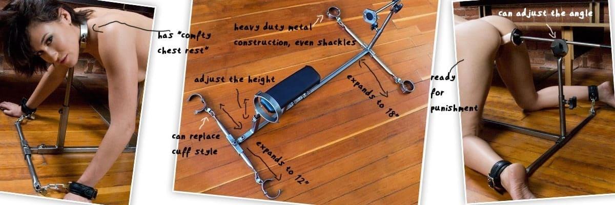 stainless steel extreme bondage stockade
