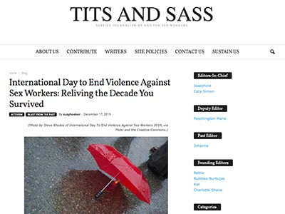 tits and sass blog for sex workers