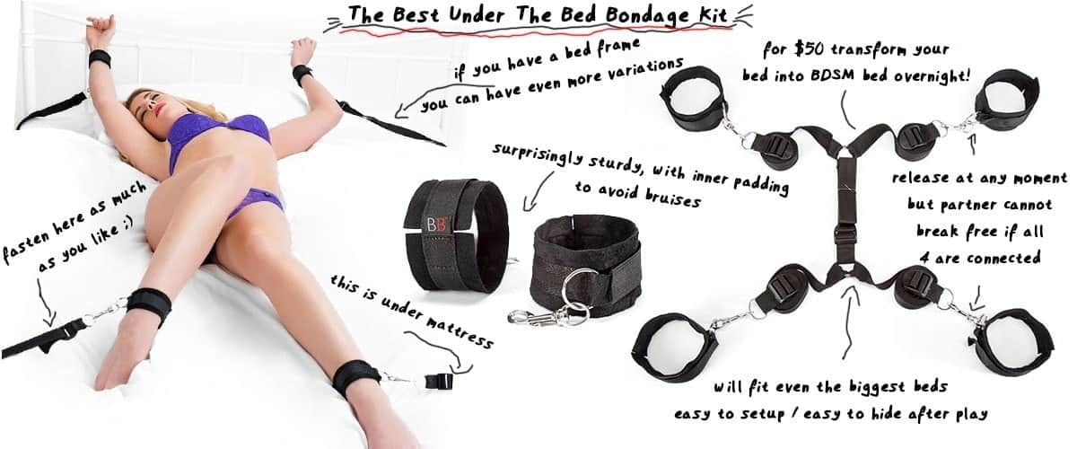 using restraints to create bdsm bondage bed