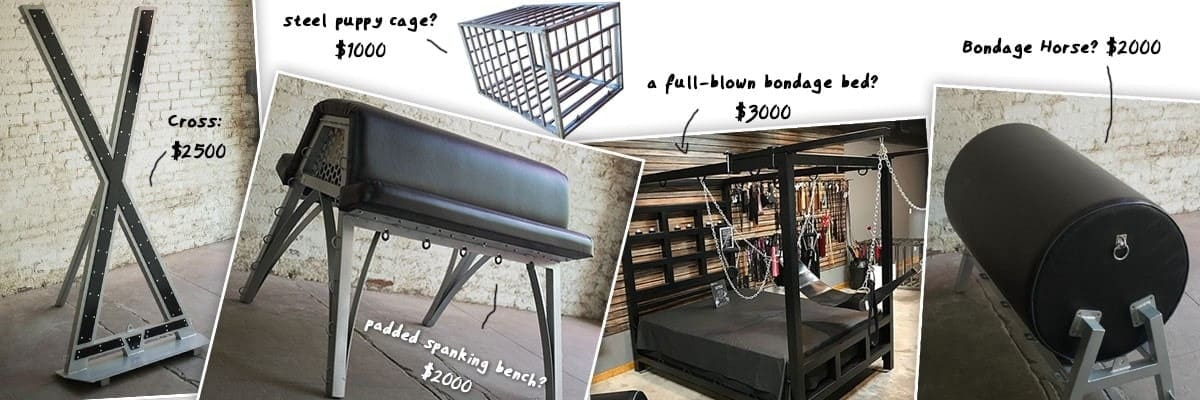 various bdsm furniture pieces compared