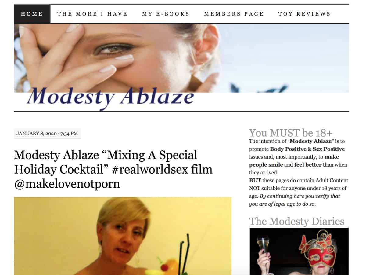 modesty ablaze