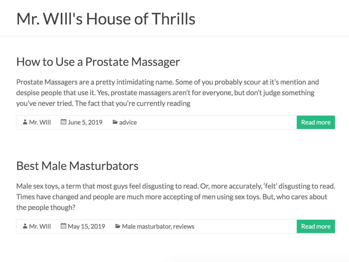 mr wills house of thrills