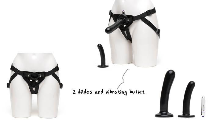 Tantus Intermediate Vibrating Strap-On Harness Kit