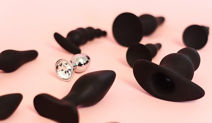 metal and silicone butt plugs