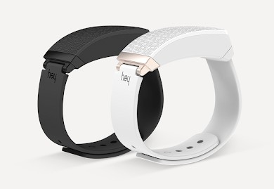 black and white hey bracelet