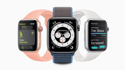 the apple watch in different colors